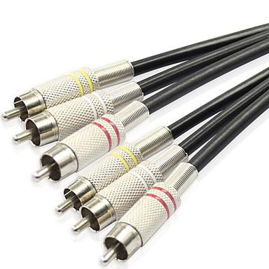 3RCA Cablu, 3RCA to 3RCA Cablu Bărbați-Bărbați Oțel placat cu nichel 3.0M (10ft)