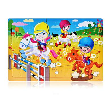 تركيب ألعاب أخرى حصان كرتون وردة خشبي غير محدد قطع