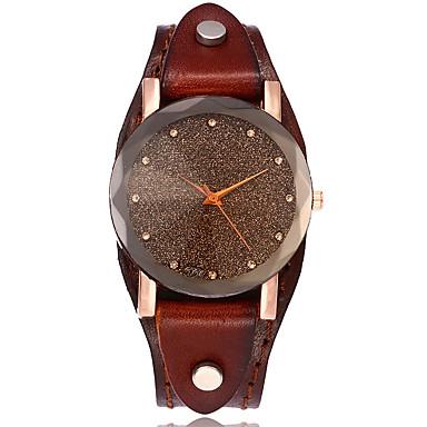 Pentru femei Quartz Ceas de Mână Ceas Brățară Chineză Ceas Casual Piele Bandă Vintage Casual Ceas de diamant simulat Unic Watch Creative