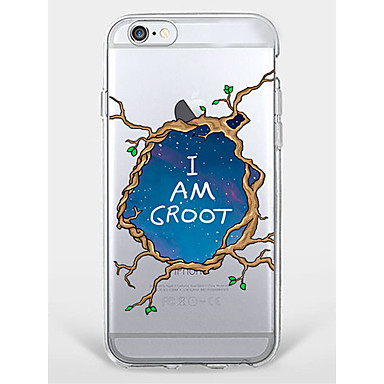 Caz iphone 7 plus iphone 6 copac cuvânt / frază model telefon shell moale pentru iphone 7 iphone6 / 6s plus iphone6 / 6s iphone5 5s se