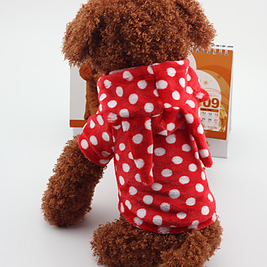 Hond kostuums Hondenkleding Warm Casual/Dagelijks Stippen Rood Blauw Kostuum Voor huisdieren