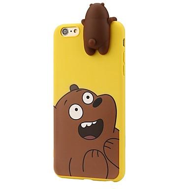Caz pentru iphone 7 plus 7 animale de desene animate 3d drăguț poartă poartă poartă moale silicon caz piele 6 plus 6