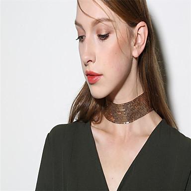 Pentru femei Personalizat Modă stil minimalist Bling bling Coliere Choker Bijuterii Aliaj Coliere Choker . Petrecere Casual Club Stradă