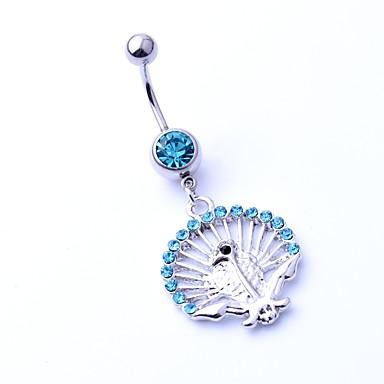 Pentru femei Inel inelar / Piercing pe burta Zirconiu Ștras Oțel titan Γεωμετρικά Geometric Shape Bijuterii de corp Pentru Crăciun