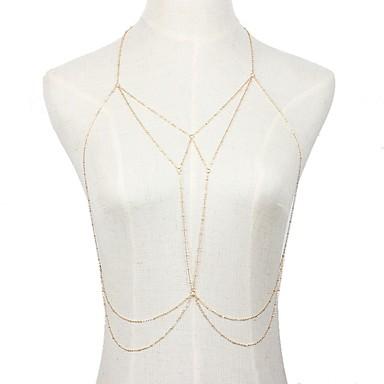 Boem / Bikini Perle Roz Lanț de Talie / Lănțișor Buric / Corp lanț / burtă lanț - Pentru femei / Fete Auriu / Argintiu Vintage / Boem /