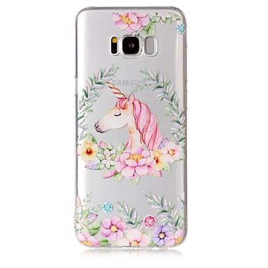 hoesje Voor Samsung Galaxy S8 Plus S8 Transparant Patroon Achterkantje Eenhoorn Bloem Zacht TPU voor S8 S8 Plus S7 edge S7