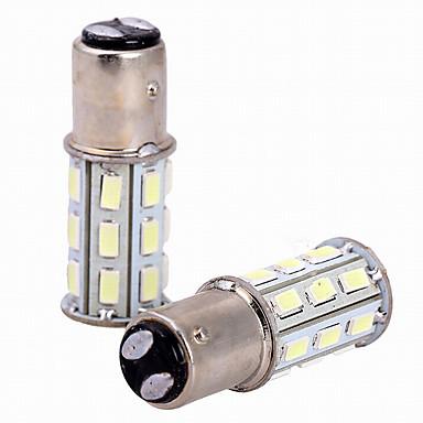 2 قطع 6 واط الأبيض dc12v 1157 27smd 5630 ليد ضوء لمبة مصباح عكس مصباح الذيل ضوء الفرامل ضوء