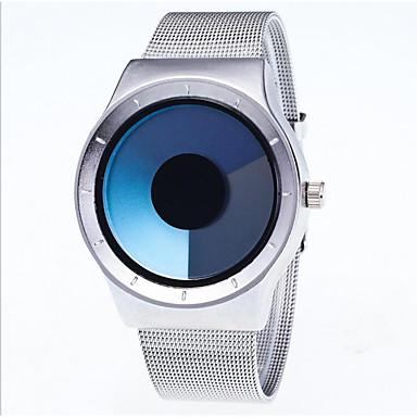 Bărbați Ceas de Mână Ceas La Modă Quartz Oțel inoxidabil Bandă Casual Argint