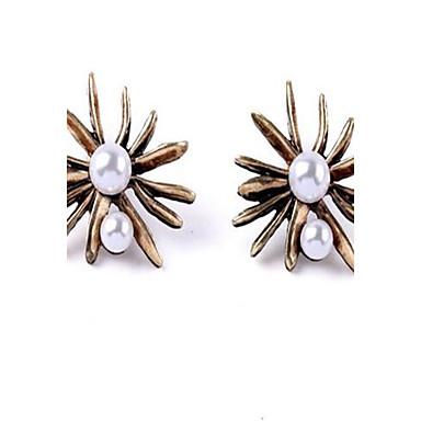 Damen Ohrstecker Tropfen-Ohrringe Imitierte Perlen Sexy Modisch individualisiert Simple Style überdimensional Aleación Blumenform Schmuck
