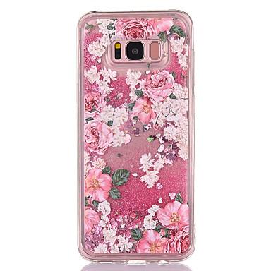 Maska Pentru Samsung Galaxy S8 Plus S8 Scurgere Lichid Transparent Model Carcasă Spate Floare Moale TPU pentru S8 S8 Plus S7 edge S7