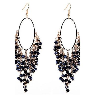 Dames Druppel oorbellen PERSGepersonaliseerd Oversized Legering Ovalen vorm Sieraden Voor Feest AvondFeest Toneel Strand