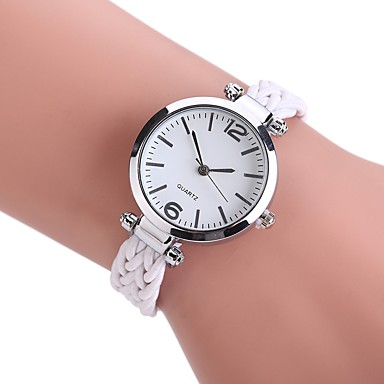 Pentru femei Ceas de Mână Ceas Elegant  Ceas La Modă Chineză Quartz Ceas Casual PU Material Bandă Vintage Casual Boem Elegant Negru Alb