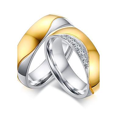 Voor Stel Ringen voor stelletjes Ring Diverse Kleuren Roestvast staal Rond Anderen Geometrische vorm Gepersonaliseerde Luxe Uniek ontwerp