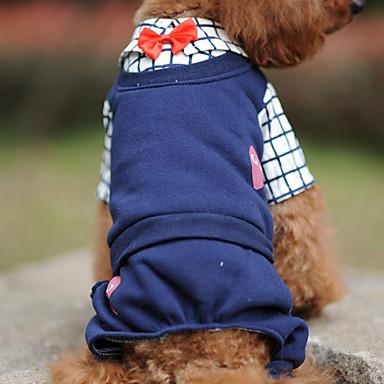 Câine Salopete Îmbrăcăminte Câini Casul/Zilnic Tartan/Carouri