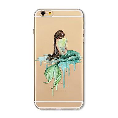غطاء من أجل Apple iPhone X iPhone 8 Plus شفاف نموذج غطاء خلفي امرآة مثيرة كارتون حيوان ناعم TPU إلى iPhone X iPhone 8 Plus iPhone 8 فون 7