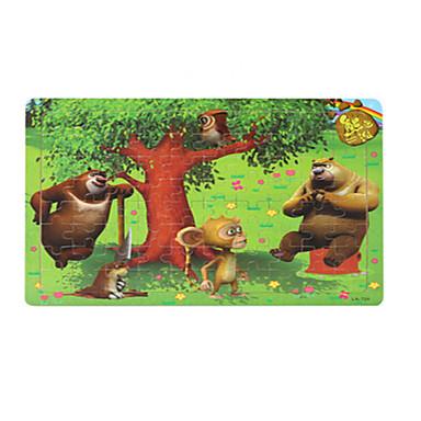 Puzzle Puzzle Lemn Jucării Educaționale Jucarii Pasăre Other desen animat în formă Fruct Lemn Unisex Bucăți
