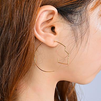 Pentru femei Cercei Picătură Metalic Personalizat Deschis Modă Ajustabile Aliaj neregulat Bijuterii Zilnic Club Ieșire Concediu Stradă