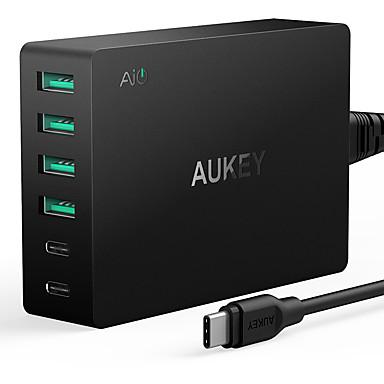 Încărcător USB 6 porturi Stație încărcător de birou Cu Quick Charge 3.0 Priză US Adaptor de încărcare