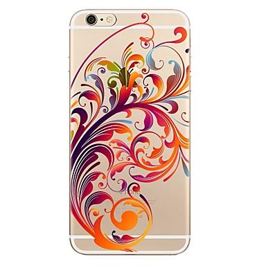 من أجل iPhone X إفون 8 iPhone 8 Plus أغط / كفرات شفاف نموذج غطاء خلفي غطاء زهور ناعم TPU إلى Apple iPhone X iPhone 8 Plus iPhone 8 فون 7