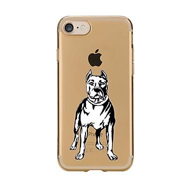 Caz pentru iphone 7 6 câine tpu soft ultra-subțire spate cover case acoperă iphone 7 plus 6 6s plus se 5s 5 5c 4s 4