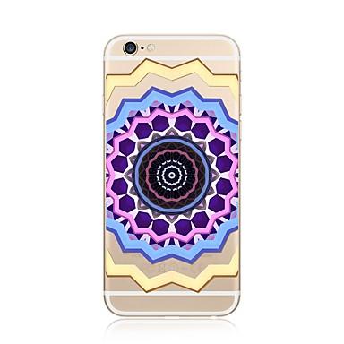 Hülle Für Apple iPhone X iPhone 8 Plus Transparent Muster Rückseitenabdeckung Mandala Weich TPU für iPhone X iPhone 8 Plus iPhone 8