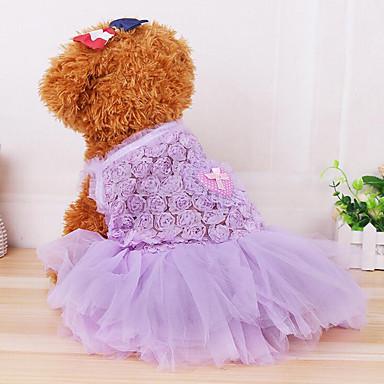 Câine Rochii Îmbrăcăminte Câini Prințesă Mov Albastru Roz Șifon Bumbac Costume Pentru animale de companie Vară Bărbați Pentru femei Casul