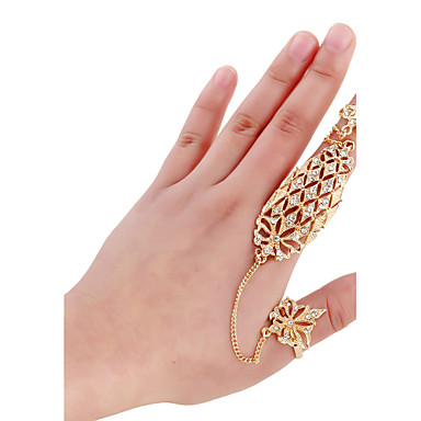 Damen Stulpring Ring-Armbänder Gold Aleación Personalisiert Hip-Hop Modisch Gothic Punk Normal Klub Strasse Modeschmuck