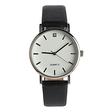 Dames Modieus horloge Japans Kwarts / PU Band Informeel Elegant minimalistische Zwart