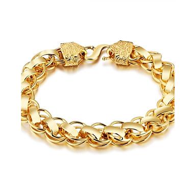 ieftine Brățări-Bărbați Brățări cu Lanț & Legături Rock Gotic Modă Placat Auriu Bijuterii brățară Auriu Pentru Stradă Club