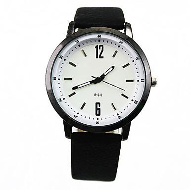 Bărbați Ceas La Modă Quartz Piele Bandă minimalist Negru