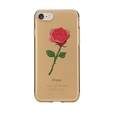 Maska Pentru Apple iPhone 7 Plus iPhone 7 Transparent Model Capac Spate Floare Moale TPU pentru iPhone 7 Plus iPhone 7 iPhone 6s Plus