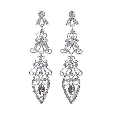 Pentru femei Cercei Stud Cercei Picătură Cercei Rotunzi  Cristal Perle Gri Bijuterii Crăciun Nuntă Petrecere Zi de Naștere Logodnă Zilnic