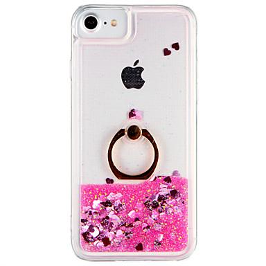 Caz pentru Apple iphone 7 plus iphone 7 acoperă curge lichid inel titularul spate acoperă cazul sclipici straluceasca pc greu pentru