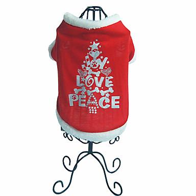 Hund Mäntel Hundekleidung Buchstabe & Nummer Polar-Fleece Kostüm Für Haustiere Weihnachten