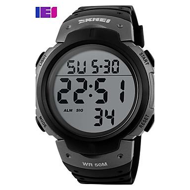 levne Pánské-Pánské Sportovní hodinky Hodinky s lebkou Vojenské hodinky Křemenný Digitální Silikon Vícebarevný 30 m Voděodolné Alarm Kalendář Digitální Přívěšky Luxus Klasické Na běžné nošení Skládaný - Zelen