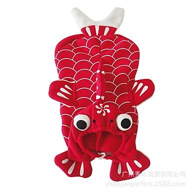 Câine Costume Îmbrăcăminte Câini Animal Rosu Material Din Fâș Costume Pentru animale de companie Bărbați Pentru femei Cosplay