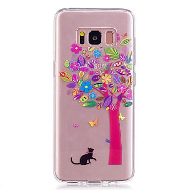 غطاء من أجل Samsung Galaxy S8 Plus S8 IMD شفاف نموذج غطاء خلفي زهور ناعم TPU إلى S8 S8 Plus
