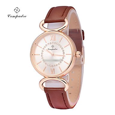 Pentru femei Ceas de Mână Ceas La Modă Quartz Piele Bandă Casual Alb Maro
