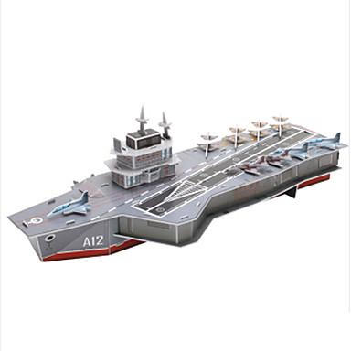 3D-puzzels Legpuzzel Oorlogsschip Vliegdekschip 3D Papier Kinderen Jongens Unisex Geschenk