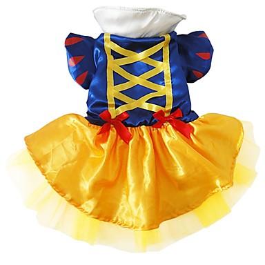 Hund Kostüme Hundekleidung Prinzessin Blau Seide Maschen Kostüm Für Haustiere Damen Cosplay