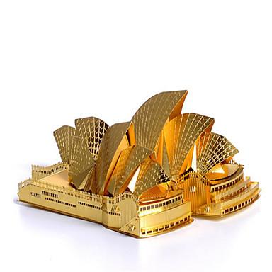 قطع تركيب3D تركيب تركيب معدني بناء مشهور معمارية 3D الفولاذ المقاوم للصدأ معدن للجنسين هدية