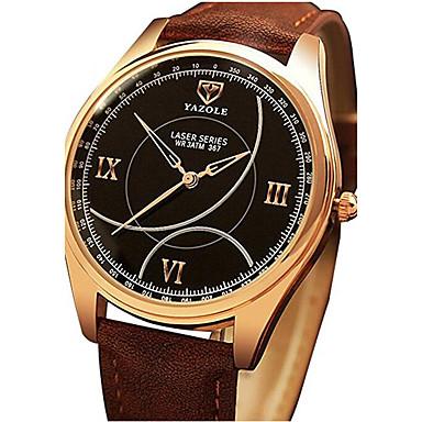 YAZOLE Bărbați Unic Creative ceas Ceas de Mână Ceas Elegant  Chineză Quartz imitație de diamant PU Bandă Casual Negru Maro