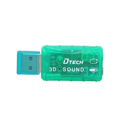 USB 2.0 Adapter, USB 2.0 to 3,5 mm audio jack Adapter Mannelijk - Vrouwelijk