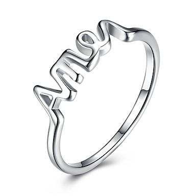 Pentru femei Verighete Lux Clasic Iubire Modă stil minimalist Plastic Αριθμοί Bijuterii Nuntă Petrecere Logodnă Serată aleasă a inimii