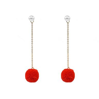 Damen Tropfen-Ohrringe - Künstliche Perle Kugel Personalisiert, Modisch Rot / Bonbonpink / Königsblau Für Alltag / Normal / Strasse