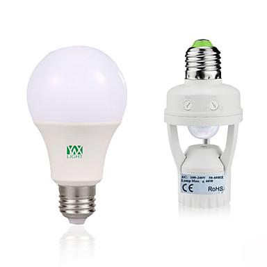 YWXLIGHT® 9W 750-950 lm E27 Bulb LED Glob 18 led-uri SMD 2835 Senzor organism corporal Decorativ Alb Cald Alb AC85-265