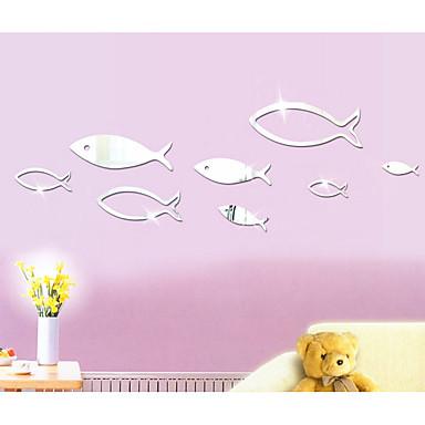 Autocolante de Perete Decorative - Acțibilduri de Oglindă Abstract Forme #D Cameră de Băieți Cameră de Fete Cameră Copii