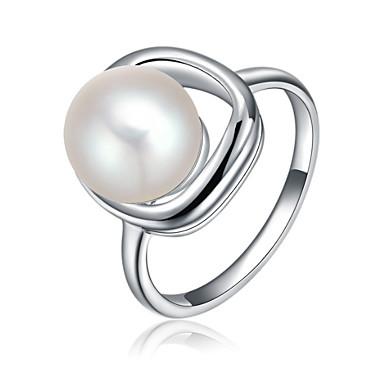 Pentru femei Band Ring Imitație de Perle Personalizat Lux Clasic De Bază Sexy Iubire Elegant Cute Stil Modă Imitație de Perle Aliaj Floare