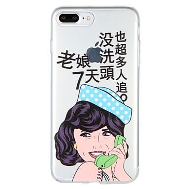 Caz pentru Apple iphone 7 plus iphone 7 acoperire model spate acoperire caz cuvânt / frază sexy doamnă tpu moale pentru iphone 6s plus