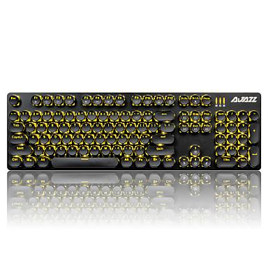 Ajazz keycaps set pentru tastatură mecanică gamimg tastatură steampunk keycaps 104 chei